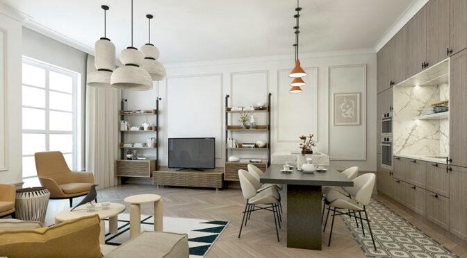 nowoczesna aranżacja wnętrza ekskluzywnego apartamentu do sprzedaży Kalisz