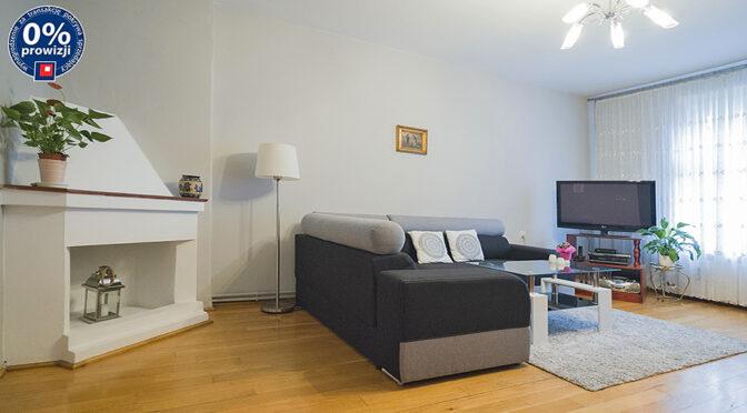 stylowy salon z kominkiem w ekskluzywnym apartamencie do sprzedaży Leszno