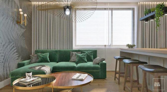 fragment stylowego salonu w ekskluzywnym apartamencie na wynajem Częstochowa