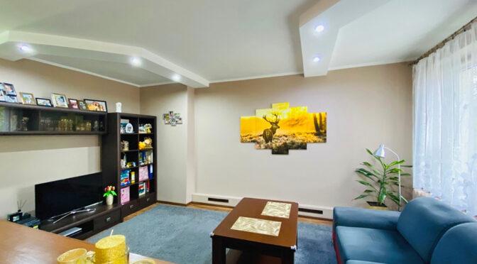 nowoczesny pokój dzienny w ekskluzywnym apartamencie do sprzedaży Katowice (okolice)