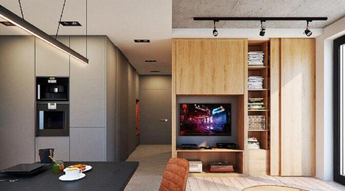 nowoczesne wnętrze ekskluzywnego apartamentu do sprzedaży Legnica (okolice)