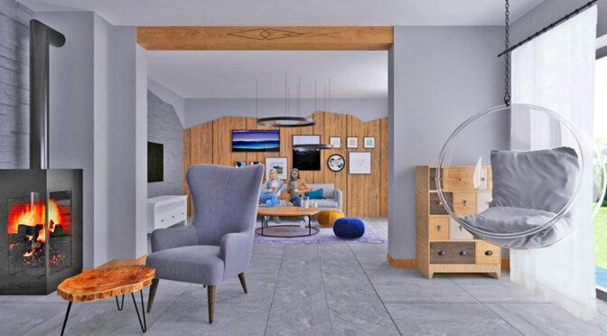 nowoczesne wnętrze ekskliuzywnego apartamentu do sprzedaży Szczyrk