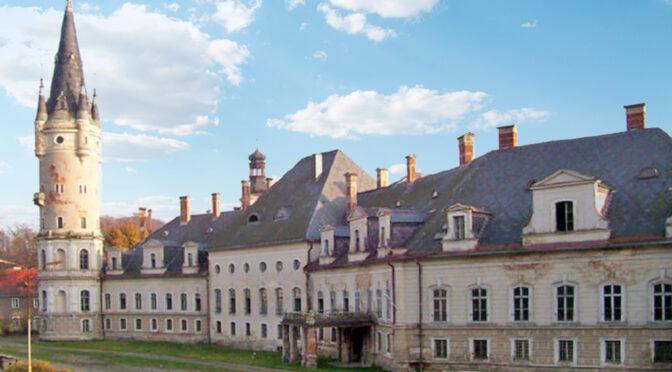 imponująca rozmachem bryła luksusowego pałacu do sprzedaży Dolny Śląsk