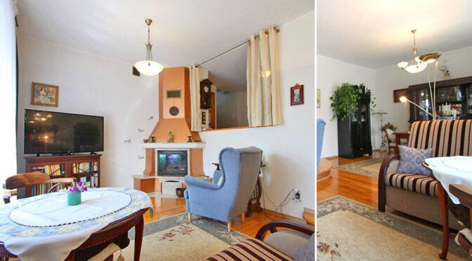 kameralny salon z kominkiem w ekskluzywnej rezydencji na sprzedaż Zduńska Wola