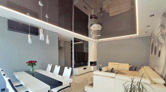 nowoczesny salon w ekskluzywnym apartamencie na sprzedaż Łódź
