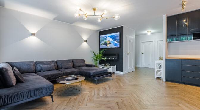 imponujące rozmachem wnętrze luksusowego apartamentu do sprzedaży Gdańsk