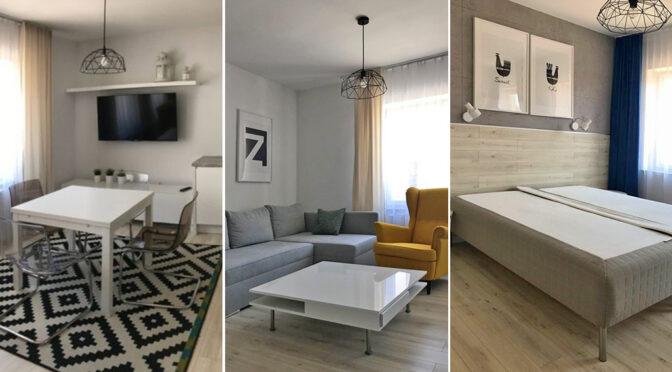 3 ujęcia luksusowego wnętrza ekskluzywnego apartamentu do wynajmu Legnica (okolice)
