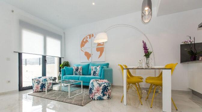 zaprojektowane zgodnie z najnowszymi trendami wnętrze luksusowej rezydencji na sprzedaż Hiszpania (Costa Blanca Orihuela Costa, Villamartin)