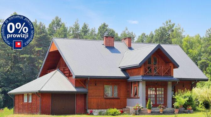 widok od frontu na ekskluzywną rezydencję na sprzedaż Tomaszów Lubelski (okolice)