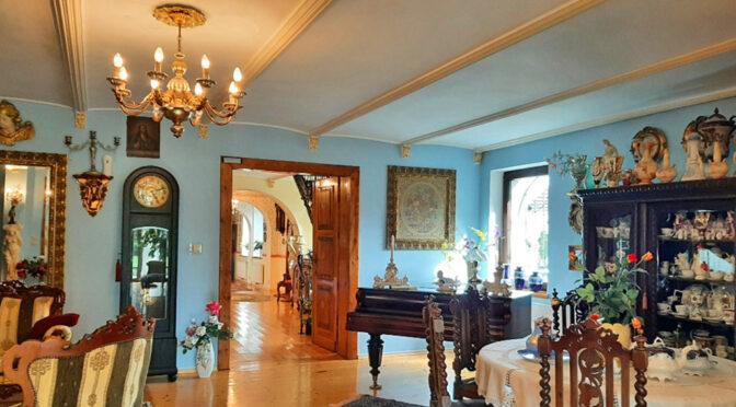 stylowe wnętrze ekskluzywnej rezydencji do sprzedaży Żagań (okolice)