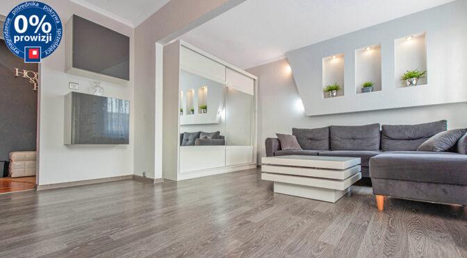 nowoczesny pokój dzienny w ekskluzywnym apartamencie na sprzedaż Katowice (okolice)