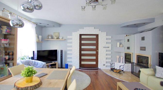 elegancki salon w luksusowym apartamencie na sprzedaż Legnica (okolice)