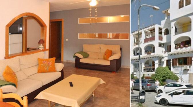 po lewej salon, po prawej apartamentowiec, w którym znajduje się oferowany do sprzedaży luksusowy apartament Costa Blanca, Orihuela Costa (Hiszpania)