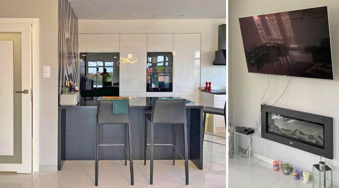 nowoczesna aranżacja wnętrza ekskluzywnego apartamentu do sprzedaży Ełk