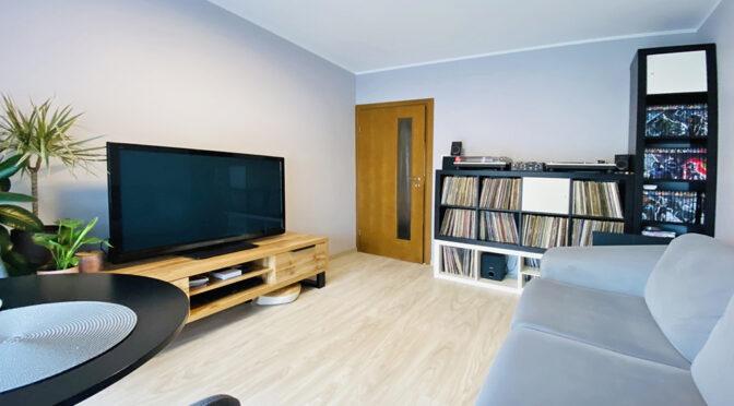 przestronny pokój dzienny w ekskluzywnym apartamencie do sprzedaży Katowice (okolice)