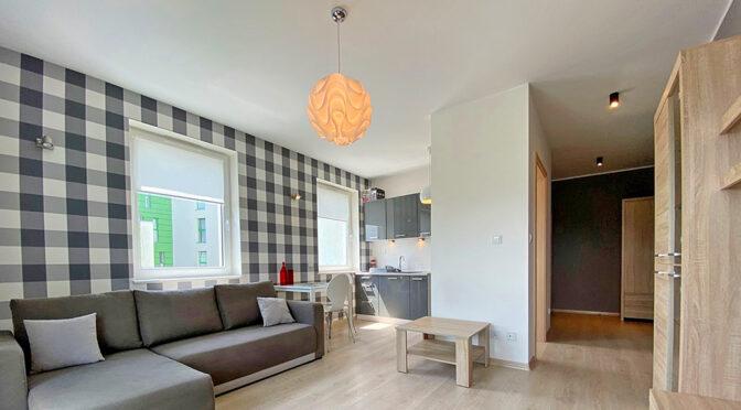 skandynawski styl wnętrza ekskluzywnego apartamentu do wynajęcia Szczecin