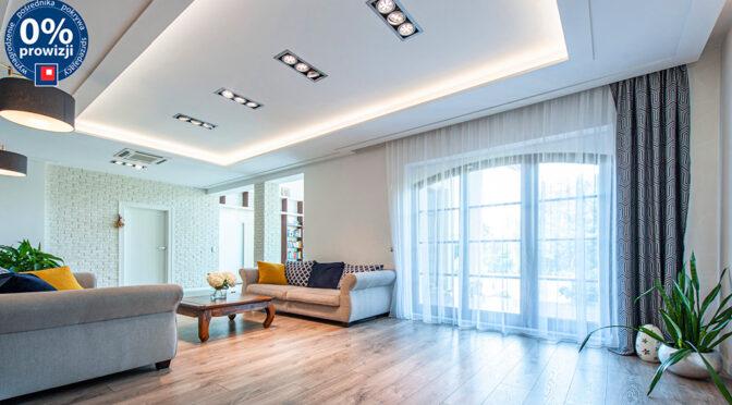 nowoczesny pokój dzienny w ekskluzywnej rezydencji na sprzedaż Katowice