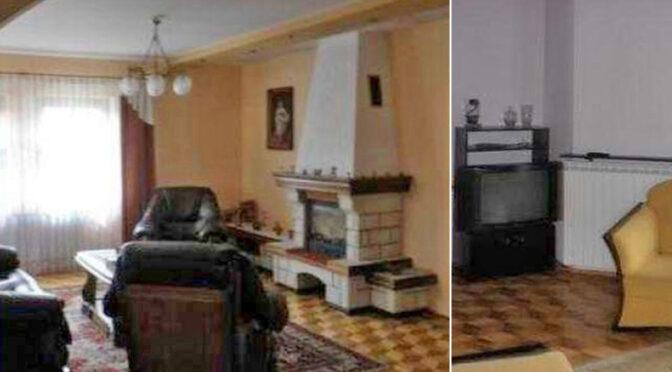 po lewej salon z kominkiem, po prawej komfortowy pokój w ekskluzywnej rezydencji na sprzedaż Piotrków Trybunalski