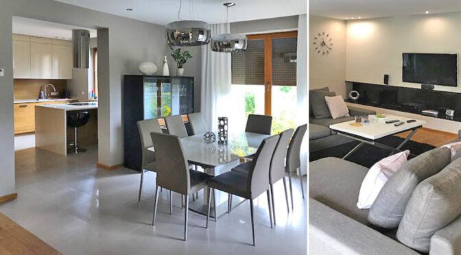 zaaranżowane zgodnie ze współczesnymi trendami wnętrze luksusowej rezydencji do sprzedaży Wieluń (okolice)