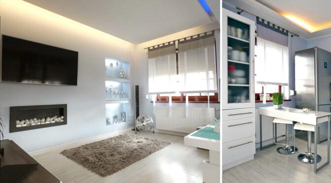 efektowne oświetlenie ekskluzywnego apartamentu na sprzedaż Ostrów Wielkopolski