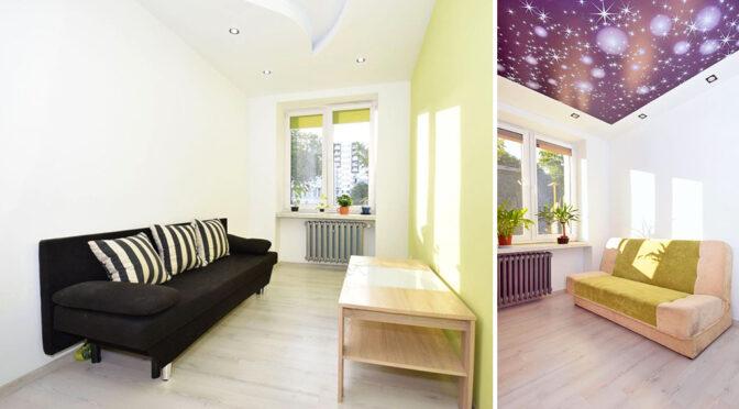 ciekawa kolorystycznie aranżacja wnętrza luksusowego apartamentu na sprzedaż Lublin