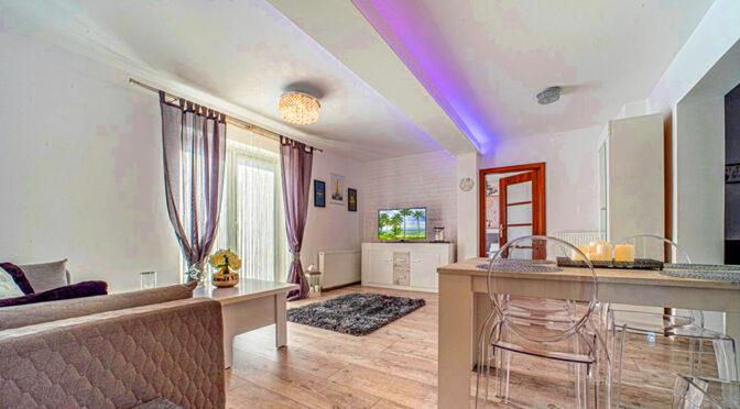 nowoczesna aranżacja i oświetlenie w luksusowym apartamencie na wynajem Bolesławiec (okolice)