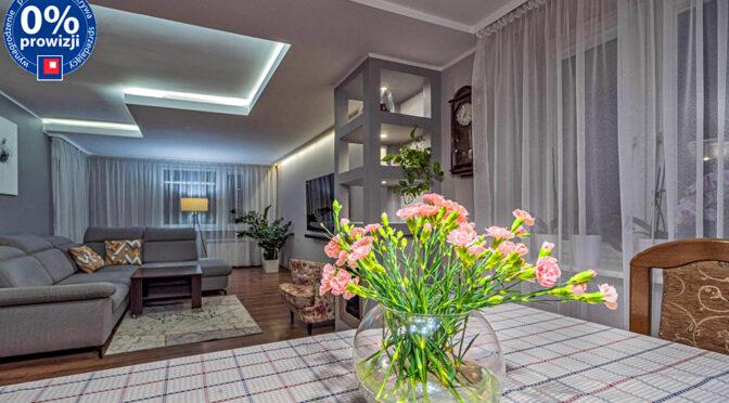 efektowne oświetlenie wnętrza ekskluzywnego apartamentu do sprzedaży Katowice (okolice)