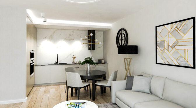 nowoczesna aranżacja wnętrza luksusowego apartamentu do sprzedaży Ostrów Wielkopolski
