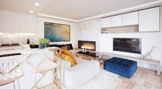 imponujące bogactwem wnętrze luksusowego apartamentu do sprzedaży Ustroń