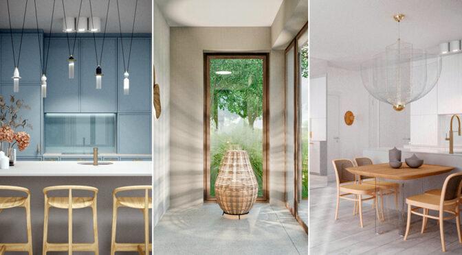 stylowe wnętrze luksusowego apartamentu do sprzedaży nad morzem