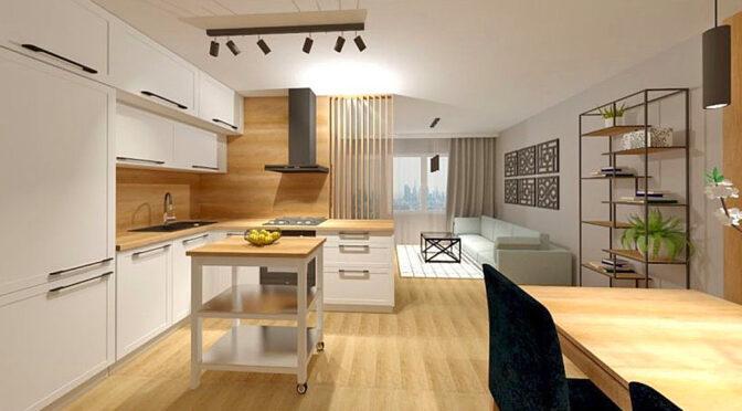 zaprojektowane zgodnie z najnowszymi trendami wnętrze luksusowego apartamentu na sprzedaż Lublin