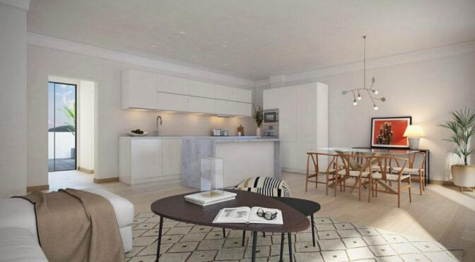 jasne i widne wnętrze ekskluzywnego apartamentu do sprzedaży Hiszpania (Fuengirola, Malaga, Costa Del Sol)