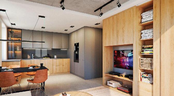 zaprojektowane zgodnie z najnowszymi trendami wnętrze luksusowego apartamentu do sprzedaży Legnica (okolice)