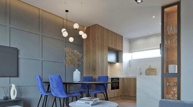 nowocześnie zaaranżowane wnętrze luksusowego apartamentu do sprzedaży Lublin