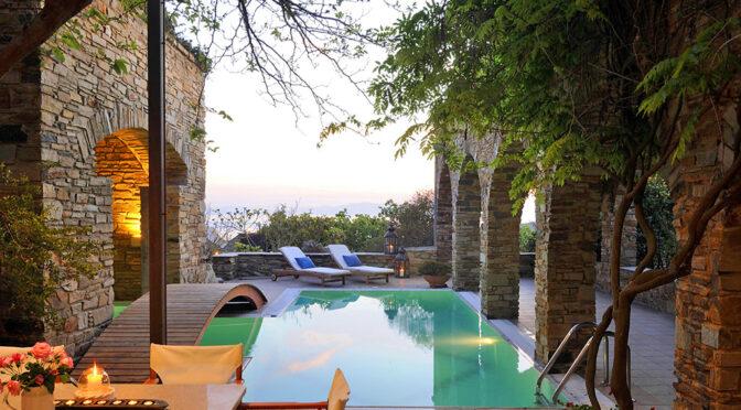 prywatny basen przy ekskluzywnej rezydencji do sprzedaży Grecja (Ktikado)